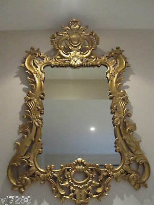 French Rococo Gilded Wood Mirror