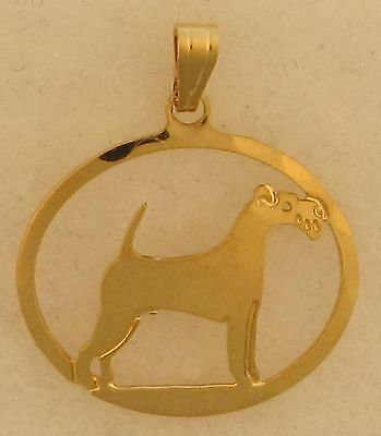 Irish Terrier Jewelry Gold Pendant by Touchstone