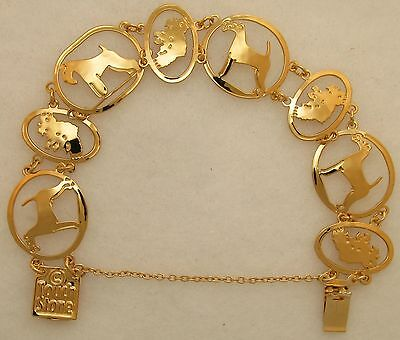 Irish Terrier Jewelry Gold Bracelet by Touchstone