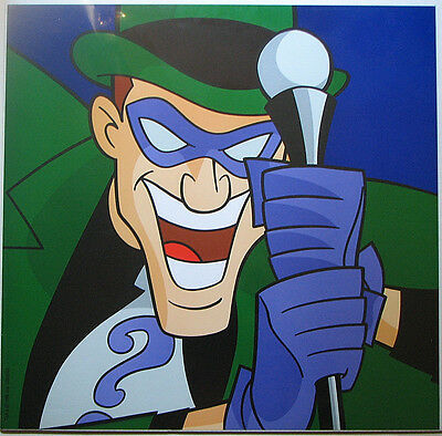 RIDDLER SQUARE FACE PRINT DC BATMAN Warner