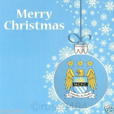 Manchester City FC Christmas Card Man City Xmas OFFICIAL Gift