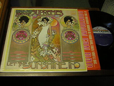 Diana Ross & Supremes 60s SOUL MOTOWN LP Let the Sunshine In STEREO 1969 USA