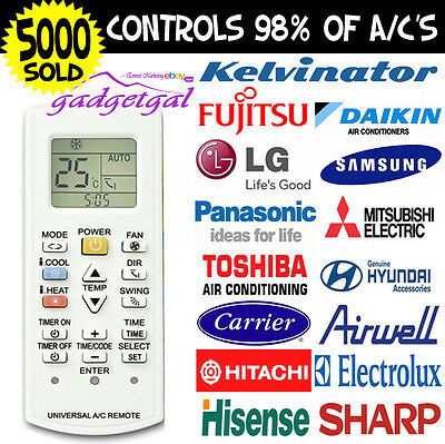 Air Con Remote LG Samsung Mitsubishi Toshiba Airwell Hisense Sharp Hitachi