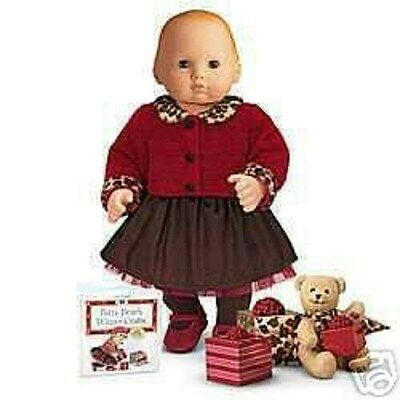 AMERICAN GIRL BITTY BABY CHOCOLATE CHERRY SET NIB RETIRED DOLL IS NOT INCLUDED