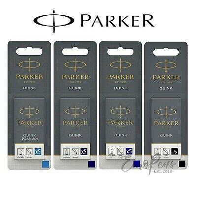 GENUINE Parker Quink Ink Cartridges for Fountain Pens Long Choose colour UK sold