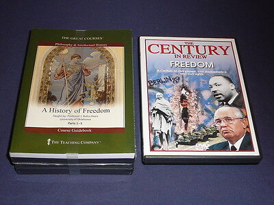 Teaching Co Great Courses DVDs           A HISTORY OF FREEDOM    new  + BONUS