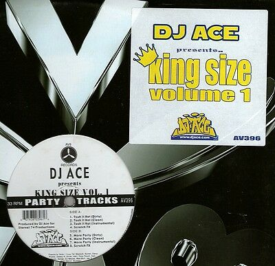 "Dj Ace / King Size Vol 1 12"" Og Us Av8 Black Party Hip Hop Vinyl Av396"