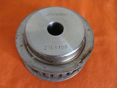 """Nos Browning Gearbelt Pulley Bore Size 5/8"""" Teeth 26 Belt Width 1"""" 2Lb100"""