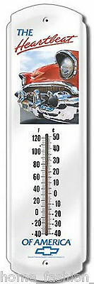 Chevy Heartbeat Chevrolet Garage TIN METAL THERMOMETER