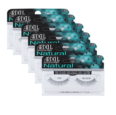 *****6 PAIRS JOB LOT OF ARDELL EYELASHES style 110 100% HUMAN HAIR GREAT VALUE!