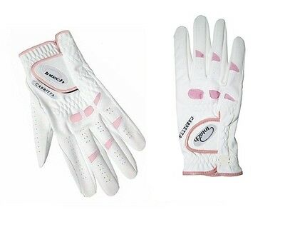 New Ladies Intech Cabretta Leather Golf Gloves; For Right Handed Golfers 6 Pack