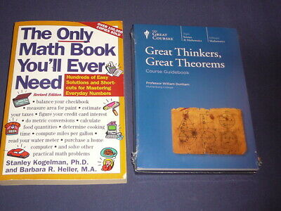 Teaching Co Great Courses DVDs      GREAT THINKERS GREAT THEOREMS    new + BONUS
