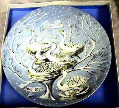 1975~Haviland/Limoges~Six Geese a Laying~12 Days of Christmas Plate #6~FRANCE