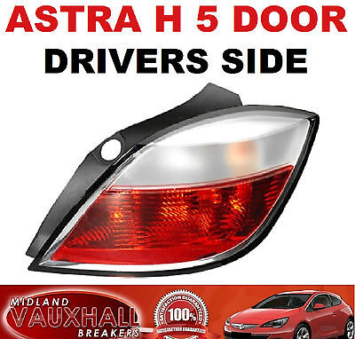 Vauxhall Astra H Mk5 Rear Back Light Lens 5 Door 2005-07 Drivers Off Right Side