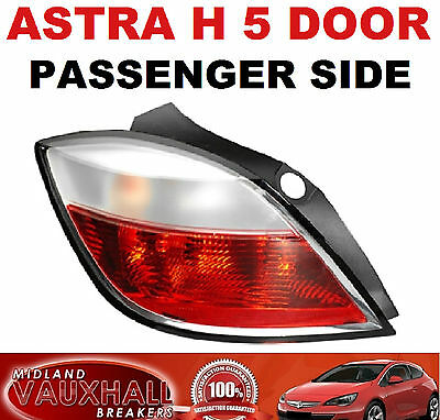 Vauxhall Astra H Mk5 Rear Back Light Lens 5 Door 2005-07 Passenger Near Side