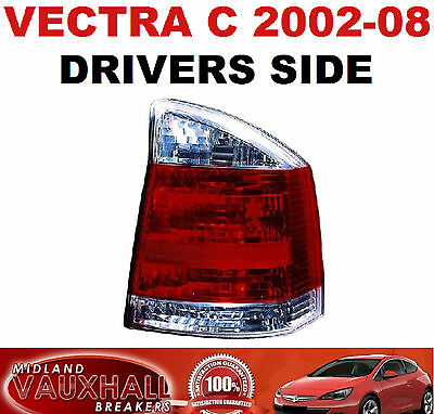 Vauxhall Vectra C 2002> Back Light Rear Lamp Lens Clear Drivers Off Side Cdti