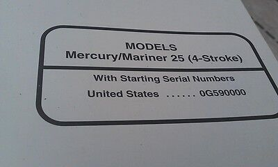 MERCURY Mariner Outboards Factory Manual 25hp 4-Stroke 1997