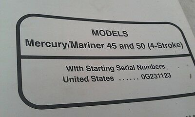 MERCURY Mariner Outboards Factory Manual 45hp 50hp 4-Stroke1995