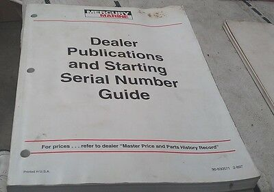 MERCURY Mariner Outboards Serial Number Guide 1970s - 90s