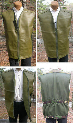 British Leather Combat Vest Jerkin Re-enactment WW2 to Modern Rugged Protection