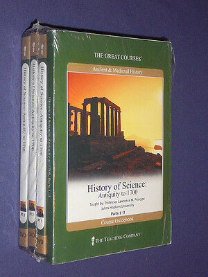 Teaching Co Great Courses DVDs :  HISTORY of SCIENCE   Antiquity-1700   new  OOP