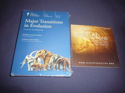 Teaching Co Great Courses DVDs    MAJOR TRANSITIONS in EVOLUTION    new  + BONUS
