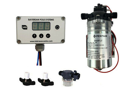 Water Fed Pole Shurflo Pump 100Psi & Pump Flow Controller Package
