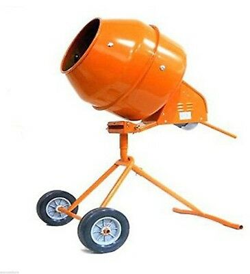 5 Cu. Ft. Tripod 1//2 hp Electric Cement Mixer Steel Drum