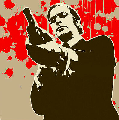 Get Carter  Popart Oil Painting 28x28. Framing available. NOT a print or poster