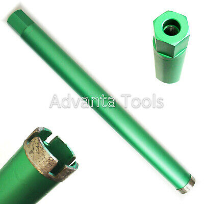 "1-3/8"" Wet Diamond Core Drill Bit for Concrete w/ 5/8""-11 Threads -Premium Green"