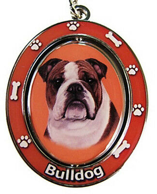 BULLDOG SPINNING KEYCHAIN DOG KEY CHAIN WITH FREE SHIPPING - NEW!!