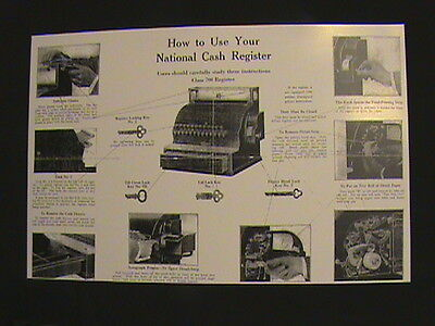 """Antique National Cash Register- """"how To Use"""" Guide 300/700 Ncr!!!"""