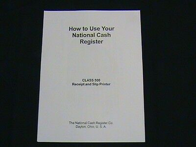 """""""how To Use"""" Antique National Cash Register Class 500 Ncr"""