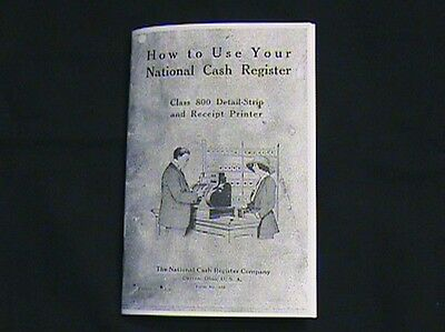 """""""how To Use """" Your Antique National Cash Register Class 400/800 Ncr"""