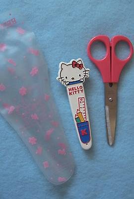Sanrio Hello Kitty Pink Safety Scissor with Case Collectible Vintage '76-'88 NEW