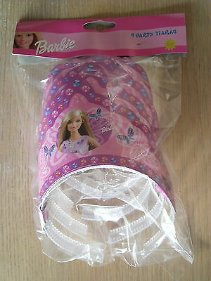 Bulk Pack of 4 Barbie Party Tiaras Princess Crowns for Girls Birthday Party Bag