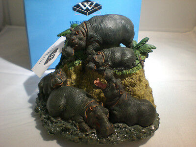 Westland Giftware Hippo Figurine Musicbox Plays Talk to the Animals Music #7077