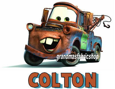 New Cars Mater Personalized T Shirt Birthday Gift Add Name Lightning McQueen