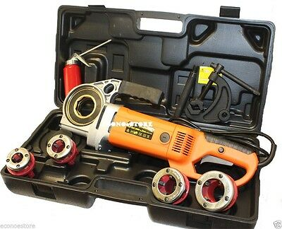"""2000W 2-2/3 Hp Electric Pipe Threader Kit 1/2"""" ~ 1-1/4"""""""