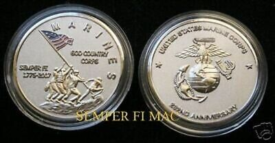 2006 US MARINE 231st CHALLENGE COIN FLAGS OF FATHERS MARINES VETERAN PIN UP GIFT