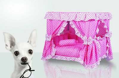 Handmade Luxury Pink Princess Gorgeous Dogs Cat Pet Bed House CHRISTMAS GIFT