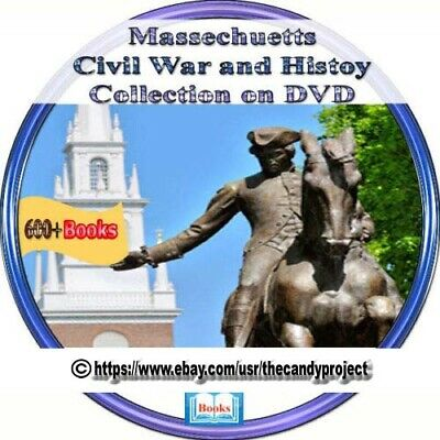 Massachusetts Civil War  Massachusetts History 4 Dvd Genealogy Books updated