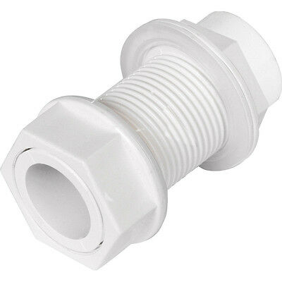 sink/basin/boiler/toilet Overflow waste water pipe tank connector 21.5mm white