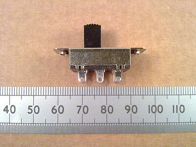 DPDT Slide Switch, Standard & Centre Off,  Break Before Make Changeover Contacts