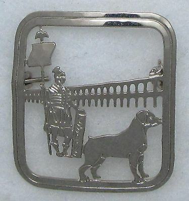 Rottweiler Jewelry Large Silver Pin