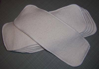 Cloth Diaper Inserts Super Soakers size 13x5 Hemp Organic Cotton Fleece Liners
