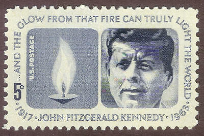 1246 Kennedy Memorial US Postage Single Mint/nh (Free Shipping)