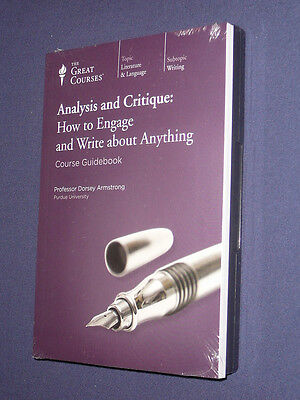 Teaching Co Great Courses  DVDs         ANALYSIS and CRITIQUE      new & sealed