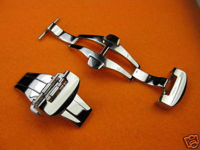 New 22mm Polish DEPLOYMENT CLASP Double Folding BUCKLE for PANERAI 24 mm STRAP
