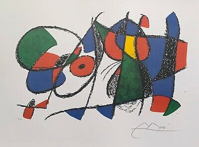 JOAN MIRO Signed VOLUME II LITHO VIII Limited Edition Lithograph Art